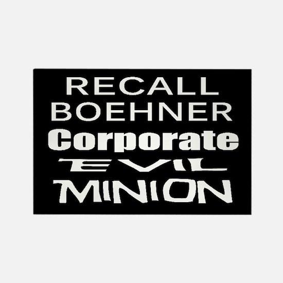 Recall John Boehner Rectangle Magnet