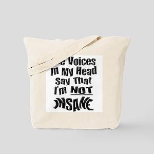 Insane Voices Tote Bag