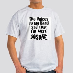 Insane Voices Ash Grey T-Shirt