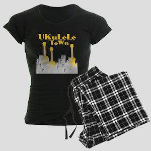 Ukulele Town Women's Dark Pajamas