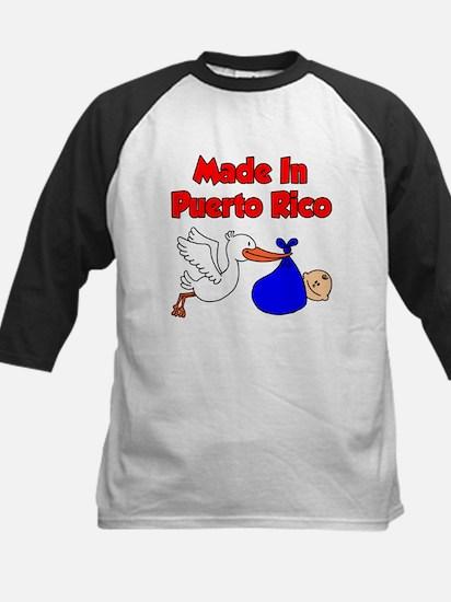 Made In Puerto Rico Boy Kids Baseball Jersey