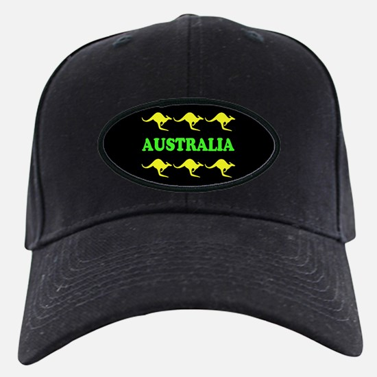 Kangaroos Australia Black Cap Green & Gold