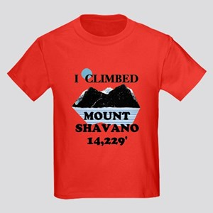 I Climbed Mount Shavano Kids Dark T-Shirt