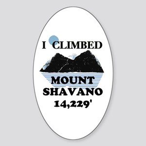 I Climbed Mount Shavano Sticker (Oval)