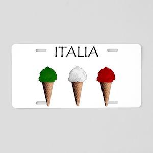 Gelati Italiani Aluminum License Plate