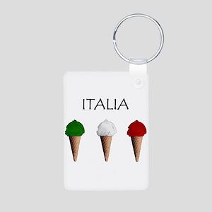 Gelati Italiani Aluminum Photo Keychain