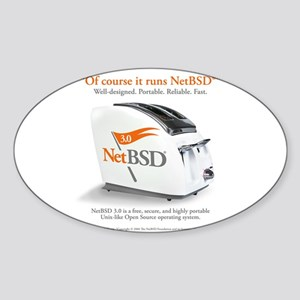 NetBSD 3.0 Cover Image + Support Oval Sticker