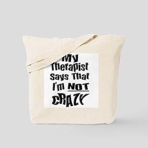 Crazy Therapist Tote Bag