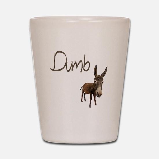 Dumb Donkey Shot Glass