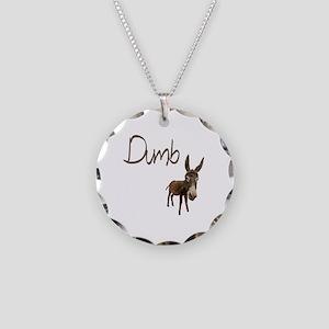 Dumb Donkey Necklace Circle Charm