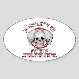Gothic Athletic Oval Sticker