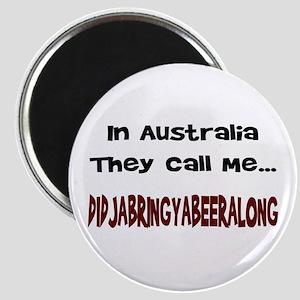 Australian Beer Joke Magnet (Round)