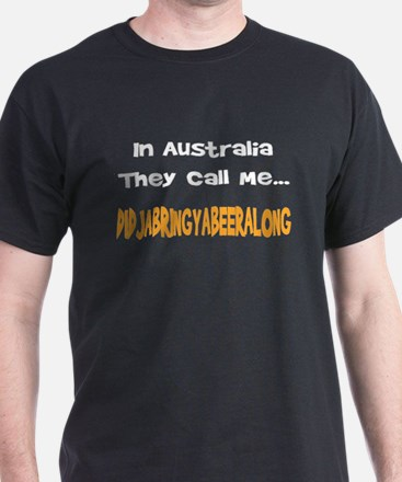 Australian Beer Joke Black T-Shirt