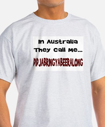 Australian Beer Joke Ash Grey T-Shirt