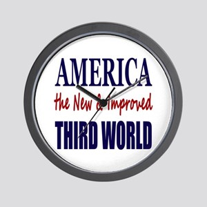 America the New 3rd World Wall Clock