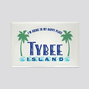 Tybee Happy Place - Rectangle Magnet