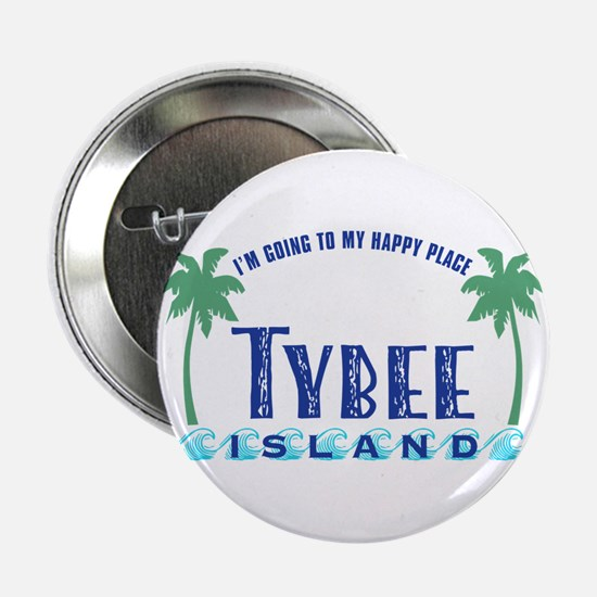 """Tybee Happy Place - 2.25"""" Button"""