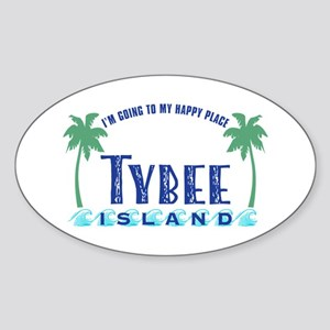 Tybee Happy Place - Sticker (Oval)