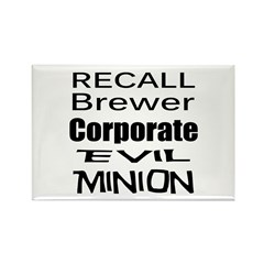Recall Governor Brewer Rectangle Magnet (10 pack)