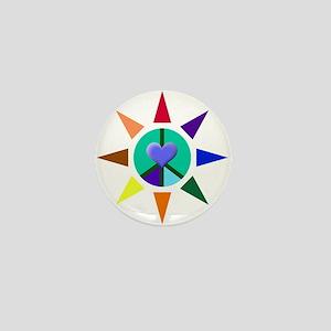 Peace Star Mini Button