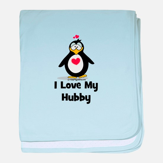 I Love my Hubby baby blanket