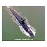 USS CASIMIR PULASKI Small Poster