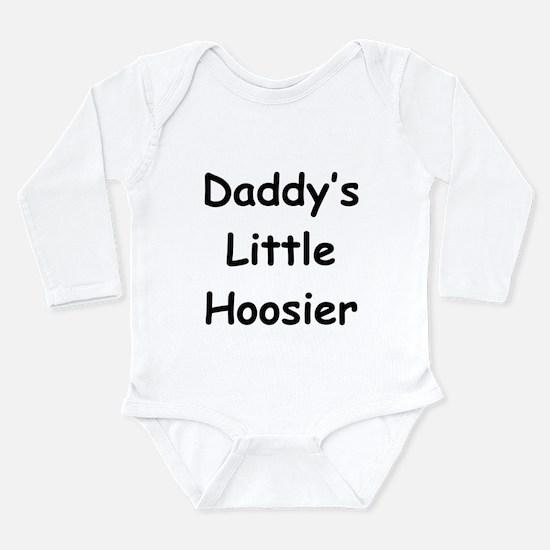 Daddy's Little Hoosier Long Sleeve Infant Bodysuit