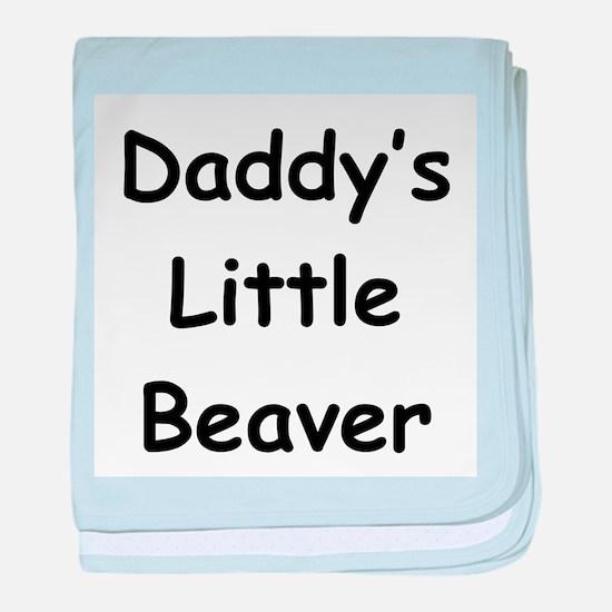 Daddy's Little Beaver baby blanket