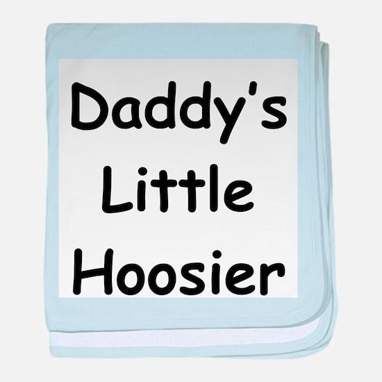 Daddy's Little Hoosier baby blanket