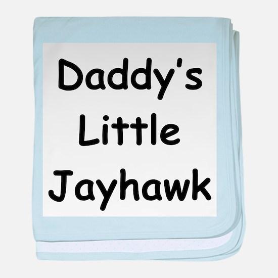 Daddy's Little Jayhawk baby blanket