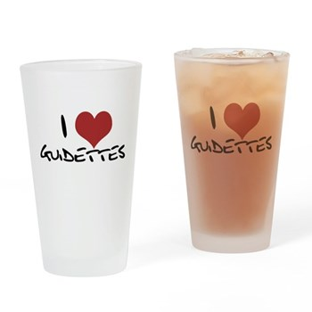 I Heart Guidettes Pint Glass