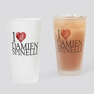 I Heart Damien Spinelli Drinking Glass