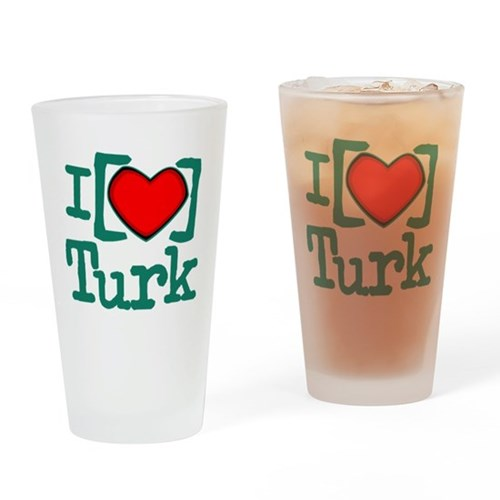 I Heart Turk Pint Glass
