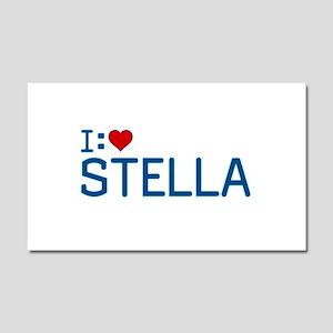 I Heart Stella Car Magnet 12 x 20