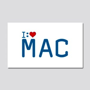 I Heart Mac Car Magnet 12 x 20