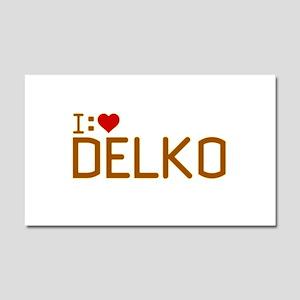 I Heart Delko Car Magnet 12 x 20