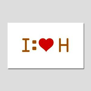 I Heart H Car Magnet 12 x 20