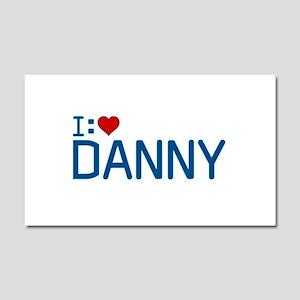 I Heart Danny Car Magnet 12 x 20