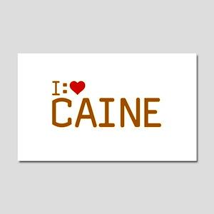 I Heart Caine Car Magnet 12 x 20