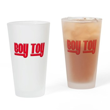 Boy Toy - Red Pint Glass