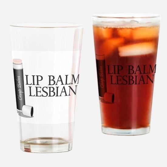 Lip Balm Lesbian Pint Glass