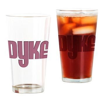 Pink Dyke Pint Glass