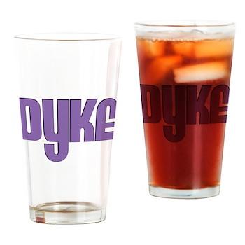 Purple Dyke Pint Glass