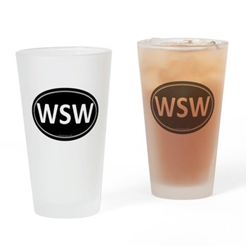 WSW Black Euro Oval Pint Glass