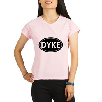 DYKE Black Euro Oval Women's Double Dry Short Slee