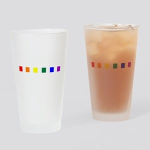 Rainbow Pride Squares Pint Glass