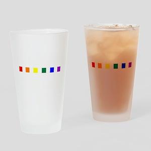 Rainbow Pride Squares Pint Glass