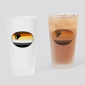 Oval Bear Pride Flag Pint Glass