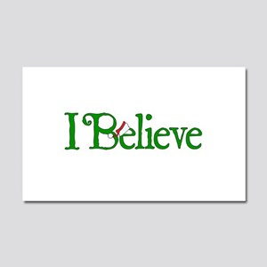 I Believe with Santa Hat Car Magnet 12 x 20