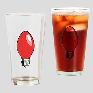 Red Christmas Tree Light Bulb Pint Glass